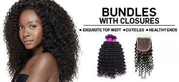 Evan Hair bundles with closure banner