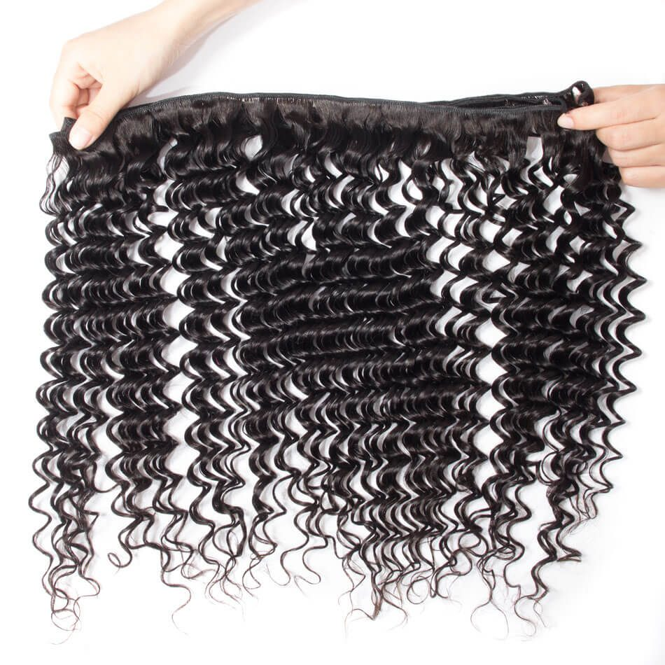 Evan Hair deep wave hair 3 bundles