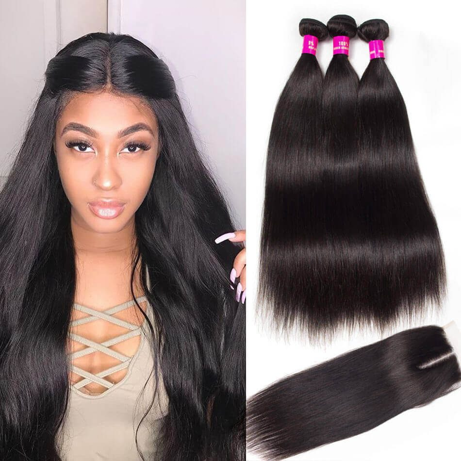 straight hair bundles closure,straight hair with closure,straight hair bundles with closure,Malaysian straight hair with closure,straight hair with Malaysian closure,straight hair bundle deals,Malaysian straight hair bundles closure