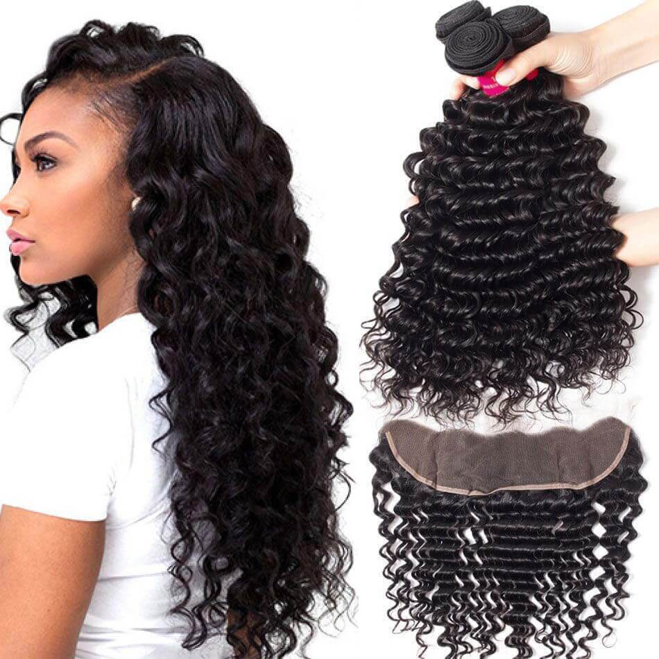 deep wave with frontal,deep wave bundles frontal,best deep hair bundle frontal,deep wave bundles with frontal,deep wave with frontal deals,deep hair with frontal,deep wave hair with frontal,Brazilian deep hair with frontal,human deep wave with frontal,virgin deep wave with frontal,10A Grade Deep Wave Bundles Frontal