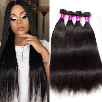 Evan Hair Indian Virgin Hair Straight Human Hair Weave 4 Bundles