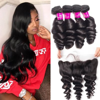 loose wave bundles frontal,cheap loose wave frontal and bundles,virgin loose wave bundles frontal,loose wave with frontal,Malaysian loose wave frontal,loose wave near me,best loose wave bundles frontal, 4 bundles loose wave with frontal